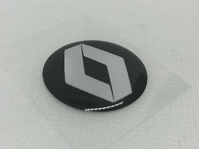 2 pcs. Renault logo badge sticker. 30mm. Domed 3D Stickers/Decals.