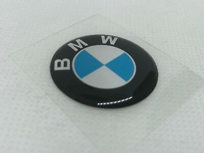 2 pcs. BMW logo badge sticker. 30mm. Domed 3D Stickers/Decals.