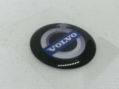 2 pcs. Volvo logo badge sticker. 30mm. Domed 3D Stickers/Decals.