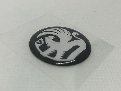 2 pcs. Vauxhall logo badge sticker. 30mm. Domed 3D Stickers/Decals.