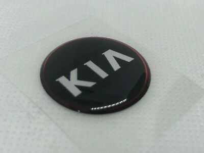 2 pcs. Kia logo badge sticker. 30mm. Domed 3D Stickers/Decals.