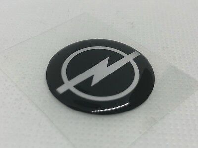 2 pcs. Opel logo badge sticker. 30mm. Domed 3D Stickers/Decals.