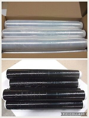 Black Or Clear Stretch / Shrink Wrap 400 X 50 X 17 Micron 1 3 6 12 18 Rolls +24H