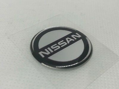 2 pcs. Nissan logo badge sticker. 30mm. Domed 3D Stickers/Decals.
