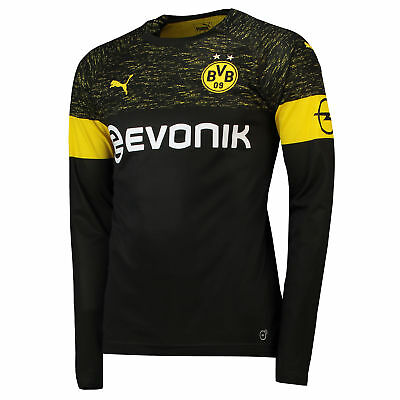 BVB Borussia Dortmund Football Away Shirt Jersey Tee Top 2018 19 Long Sleeve