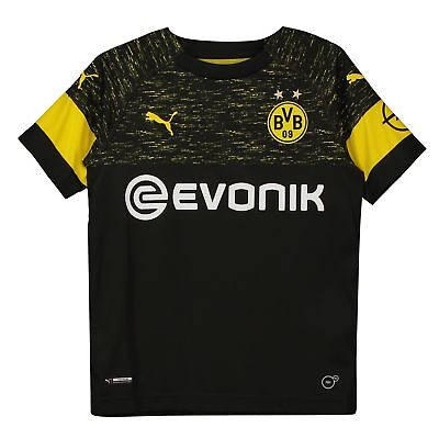 Official BVB Borussia Dortmund Football Away Shirt Jersey Tee Top 2018 19 Kids
