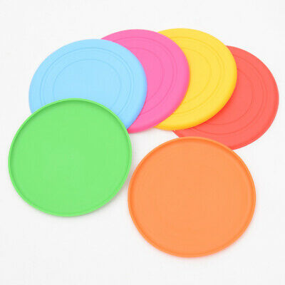 18cm Dog Frisbee Toy Soft Silicone Pet Race Training Throwing Flying Disc Toys
