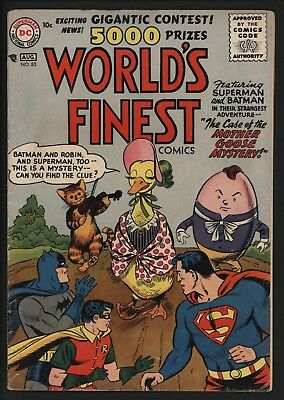 World's Finest #83 Very Scarce! 1956 Superman & Batman. Nice White Pages