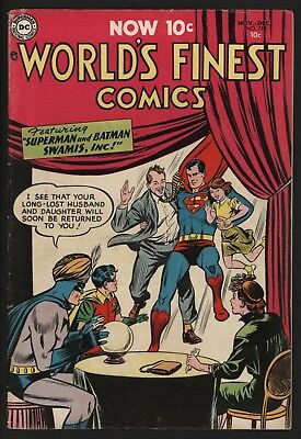 World's Finest #73 Very Scarce! 1954 Superman And Batman. Nice White Pages