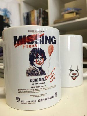 IT (2017 Movie) Missing 'Richie Tozier' Poster Mug - Inspired by Stephen King