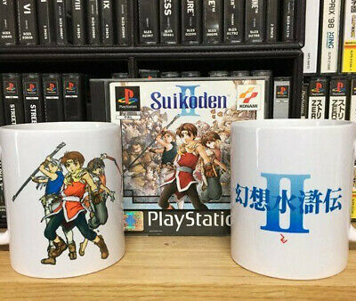 Suikoden 2 Cover Pose Mug - Genso Suikoden II 8 bit Cup by Rev-Level