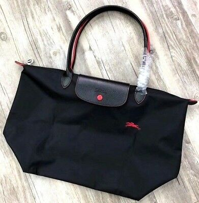 New Longchamp Le Pliage Club Collection LARGE Black Tote Bag with Dustbag  France fd653c1b8cdc8