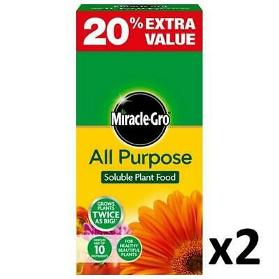 2 x Miracle-Gro All Purpose Soluble Plant Food 1kg Grow Plants Twice As Big!