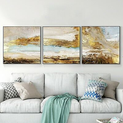 Abstract Art Ink Oil Painting Urban Silk Canvas Poster Wall Decor A417 Unframed