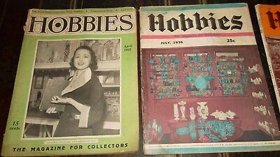 HOBBIES The Magazine For Collectors  -  15 Issues  -  1930 - 1940s  -  Pick Up