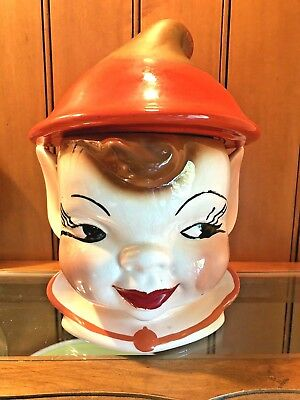 Vintage ELF COOKIE JAR 1950's CALIFORNIA ORIGINALS