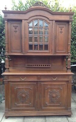 Antique French Oak Henri II style buffet / cabinet / dresser. Delivery possible.