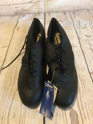 Sansha TA01 T Split Black Tap Shoes Size 16M Claquettes Lace Up New