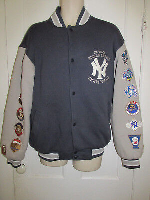 eb706d25d Men s New York Yankees 26-Time World Series Champions Jacket SZ M-PATCHES-