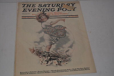 Original Antique May 28, 1921 The Saturday Evening Post Magazine Cover