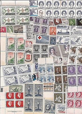 86 vintage MINT UNUSED FULL GUM CANADA Canadian postage stamps lot G  MNH