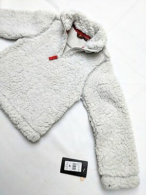 NEW 7 For All Mankind Sherpa Fleece Half Zip Pullover Sweater Size 4T Kids NWT