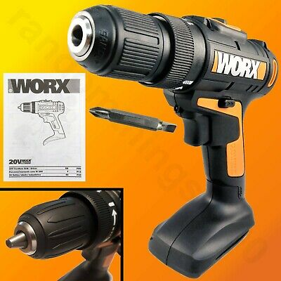 WORX WX169L 20-Volt Lithium-Ion 3/8 in Drill Driver 0-1350 RPM with Driver bits