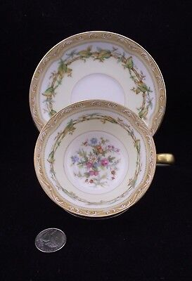 Noritake Olympia Yellow Japan Footed Tea Cup And Saucer