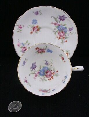 Vintage  Hammersley Floral   Cabinet  Tea Cup And Saucer