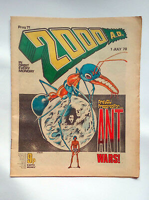 2000ad prog 71 Banned Burger wars issue very good condition
