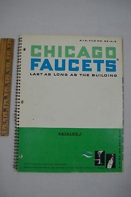 Vintage Chicago Faucets Catalog Advertising Fixtures Bath Sink Urinal 1960s