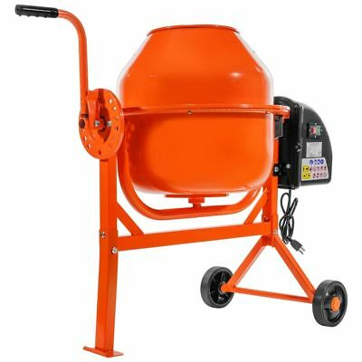 Portable 2-1/5cuft Electric Concrete Cement Mixer Barrow Machine Mixing Mortar