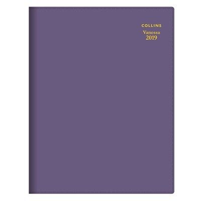 2019 Collins Vanessa Diary Diaries A5 Week To Open - Purple