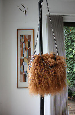 STELLA MCCARTNEY FALABELLA Mini Faux Fur Tote Camel 62a0a3c58d840