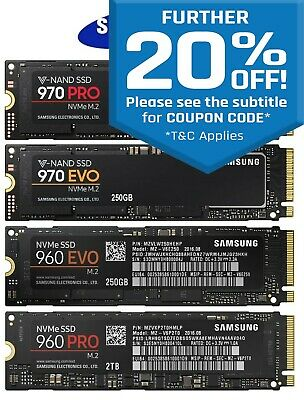 Samsung Evo 960 970 Pro PCIE 3.0x4 NVMe M.2 SSD Internal Solid State Drive 3.5Gb