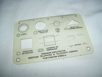 Vintage AT&T Paperwork Simplification Flow Chart Template American Telephone