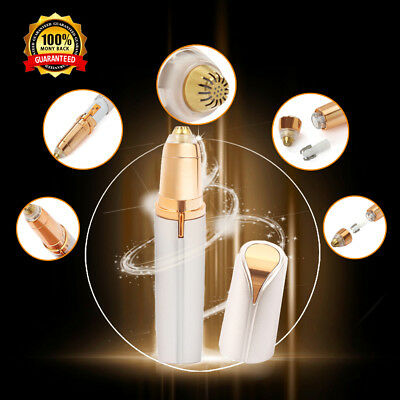 New Women Electric Facial Face Hair Remover Eyebrow brows Trimmer With LED Light