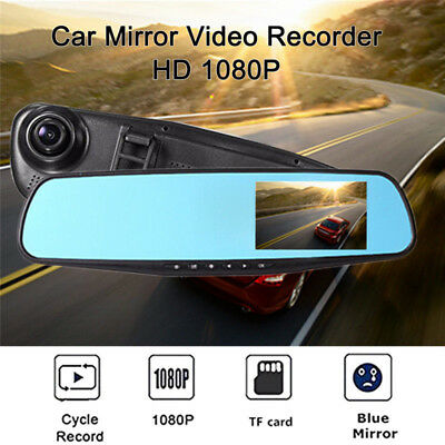 "Full HD 1080P Dash Cam 4.3"" LCD Car DVR Driving Recorder Camera Vehicle Video US"