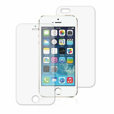 5x CLEAR FRONT AND BACK QUALITY SCREEN PROTECTOR COVER FOR APPLE IPHONE SE 5S 5G