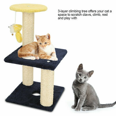 "3 Layers 15.7"" Cat Tree Tower Scratcher Furniture Scratching Post Pet Play Toys"