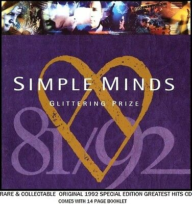 Simple Minds - The Very Best Greatest Hits Collection - RARE CD - 80's Rock Pop