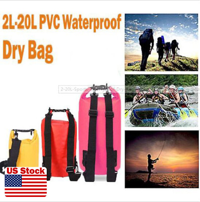 e325bf97cf 2-20L Sports Waterproof Dry Bag Backpack Pouch Floating Boating Kayaking  Camping