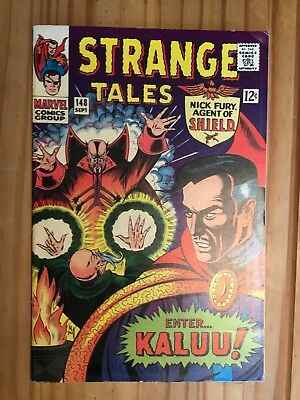 Strange Tales #148 Shield & Doctor Strange,Oriigin Ancient One,1966 Grade VG/FN
