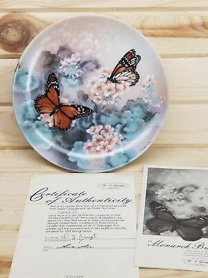 1988 W S George MONARCH BUTTERFLIES First Issue Limited Edition Plate # 13043 C