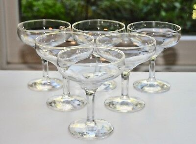 Set of 6 Vintage Champagne Coupes/Sherbet (10.5cm/100ml)