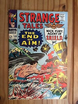 Strange Tales #149  Marvel , Shield and Doctor Strange, 1966 Grade FN-