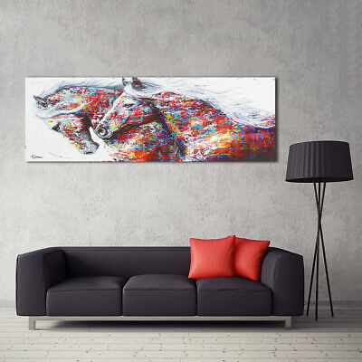 3 Sizes Colorful Horse Canvas Painting Picture Wall Art Home Room Decoration