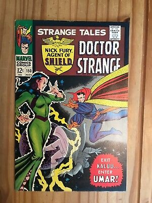 Strange Tales #150  Marvel , Shield and Doctor Strange,1966, Grade FN-