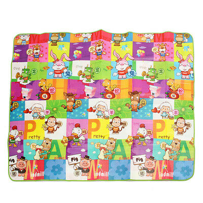 Baby Kids Toddler Play Mat Foam Soft Pad Gym Crawl Blanket Double Sides AU STOCK