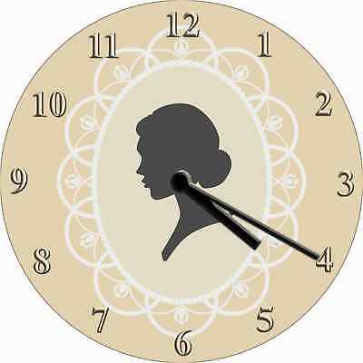 NOVELTY WALL CLOCK - Antique Victorian Broach Design - Retro Wall Clock